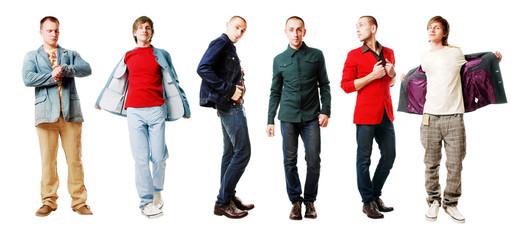 6 men in a  jackets