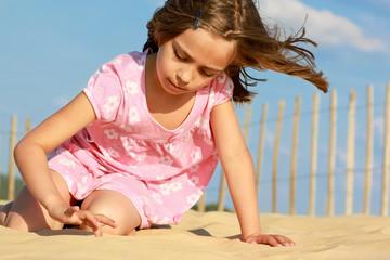 écrire sur le sable