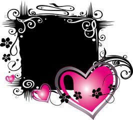 Romantik, Liebe, Hintergrund schwarz pink