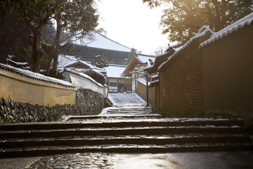二月堂雪景色