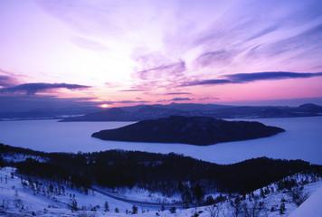屈斜路湖冬景色