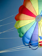 The canopy of the parachute