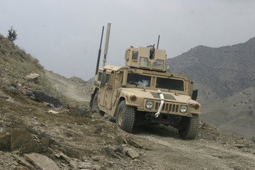 Humvee on Patrol in Afghanistan