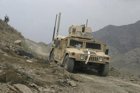 Humvee on Patrol in Afghanistan