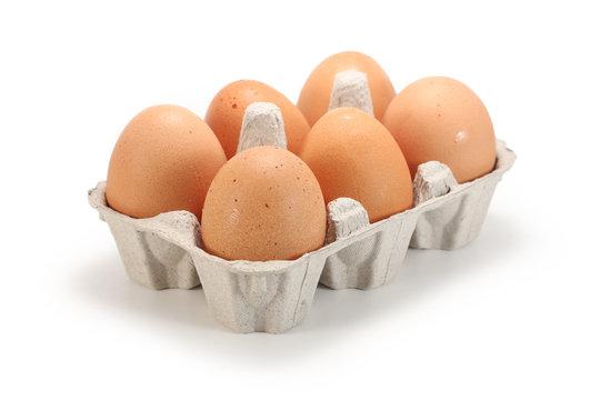 Fresh healthy eggs