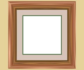 Vector wooden frame