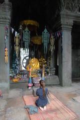 Statue de Bouddha a Angkor
