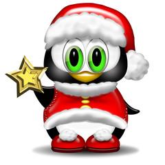 Pinguino Natale-Christmas Penguin-Pingouin Noël avec étoile