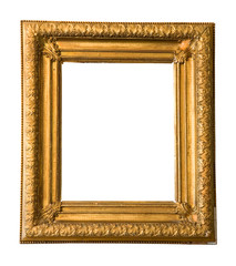 golden, vintage picture frame, free copy space