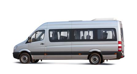 minibus on white