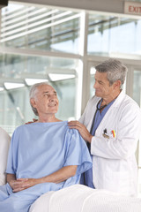 male doctor taking care of patient
