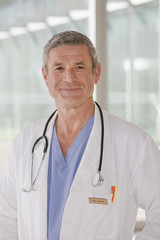 portrait of smiling male doctor