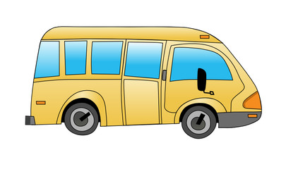 School bus on white background vector illustration