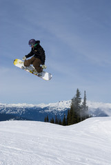 snowboarder in Whistler (Vancouver)