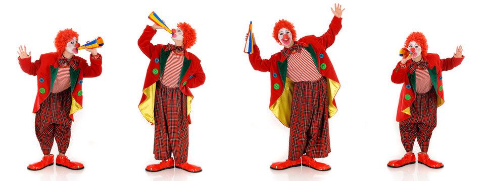 Female holiday clown