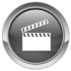 """Bouton """"Cinéma"""" (noir)"""