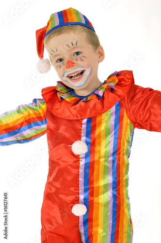 Kleiner Junge Als Clown Stock Photo And Royalty Free Images On