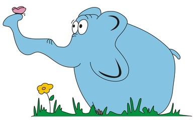 Zakochany słoń
