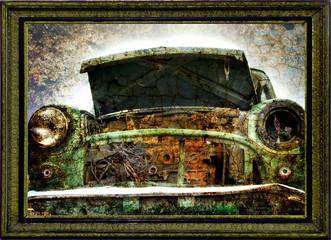 Ölmalerei Autofront