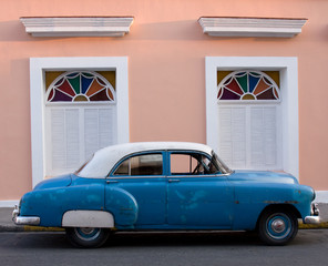 Garden Poster Cars from Cuba Fifties American car, Trinidad, Cuba