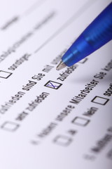 Fragebogen, Meinungsforschung