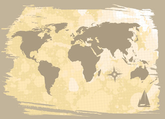 abstract background with world-map