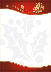 Exotic Red Holly Adorned Gift Card or Label