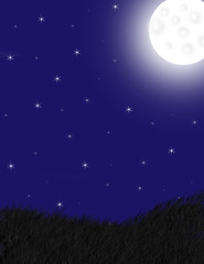 Moon and Starie Sky