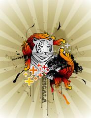 composicion de un tigre en vector