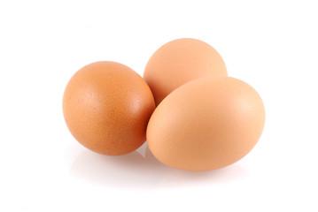 Three eggs.