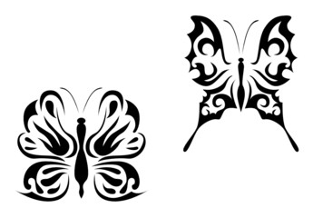 Isolated butterfly tattoos