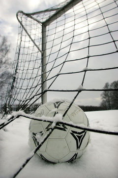 Fussball im Winter