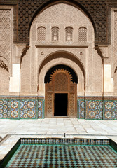 Yard of Ben Youssef madrasah, Marrakech