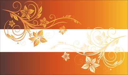 Blumen, Ranke, Hintergrund, floral, orange