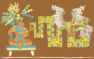 Mayan King and Kukulcan