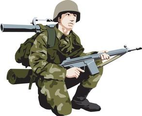 Keuken foto achterwand Militair soldier
