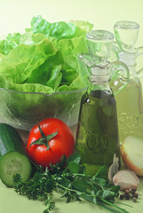 salad with ingredients