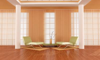 luxury  orange living room