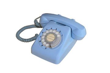 Téléphone à cadran bleu