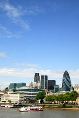 Cityscape of the financial district of London
