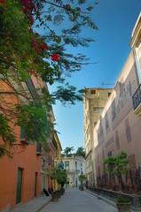 Street in Havana whit Colorful buildings