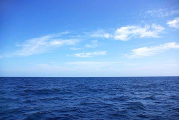 Texture of blue Ocean.