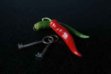 Chillischote mit Schlüssel - Sicher & Scharf