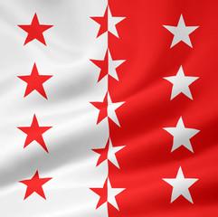 Flagge des Kantons Wallis - Schweit