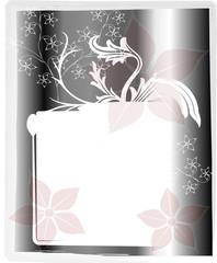 Hintergrund Gutschein Floral grau silber blüten