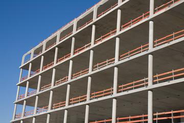 baustelle, betonbau
