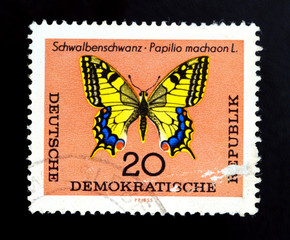 GDR Butterfly stamp