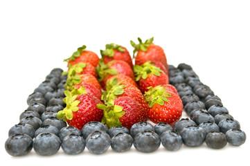 Bilberries and strawberries.