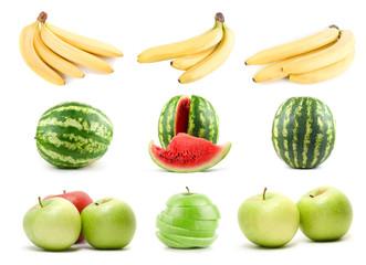 set of ripe fruit