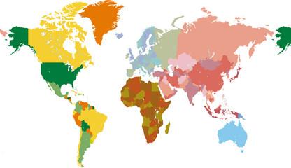 Photos illustrations et vid os de carte du monde - Carte du monde en couleur ...